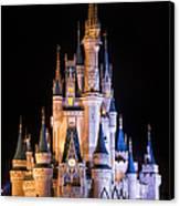 Cinderella's Castle In Magic Kingdom Canvas Print