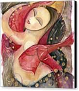 Circle Dancer Canvas Print by Jen Norton