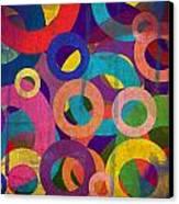 Circles Canvas Print by Aya Murrells