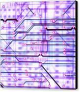 Circuit Trace Canvas Print