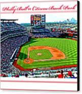 Citizens Bank Park Phillies Baseball Poster Image Canvas Print by A Gurmankin