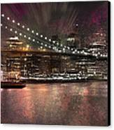 City-art Brooklyn Bridge Canvas Print by Melanie Viola