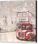 City-art London Red Buses II Canvas Print by Melanie Viola