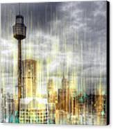City-art Sydney Rainfall Canvas Print