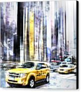 City-art Times Square II Canvas Print by Melanie Viola