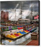 City - Baltimore Md - Modern Maryland Canvas Print by Mike Savad