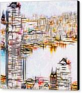 City By The Bay Canvas Print by Jack Zulli