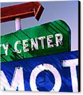 City Center Motel Canvas Print by Gail Lawnicki