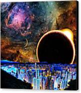 City In Space Canvas Print by Bruce Iorio