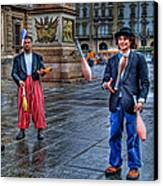 City Jugglers Canvas Print by Ron Shoshani