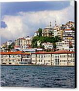 City Of Istanbul Cityscape Canvas Print by Artur Bogacki