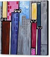 City People Canvas Print by Kip Krause