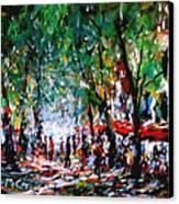 City Promenade Canvas Print by K McCoy