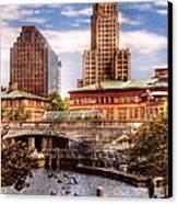 City - Providence Ri - The Skyline Canvas Print by Mike Savad