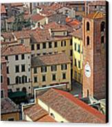 City View Of Lucca With The Clock Tower Canvas Print by Kiril Stanchev