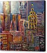 Cityscape 9 Canvas Print by Don Thibodeaux
