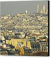 Cityscape Of Paris Paris, France Canvas Print by Ingrid Rasmussen