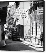 Ciudad Vieja Calle Canvas Print