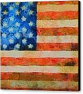 Civil War Flag Canvas Print by Dan Sproul