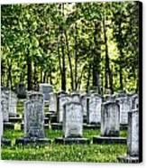 Civitl War Warrior Graves Canvas Print by Linda Phelps