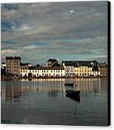 Claddagh  Quays. Canvas Print by Peter Skelton