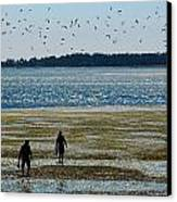Clammers Canvas Print by Mamie Gunning
