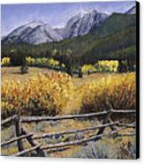 Clark Peak Canvas Print by Mary Giacomini