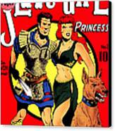Classic Comic Book Cover - Slave Girl Princess - 1110 Canvas Print by Wingsdomain Art and Photography
