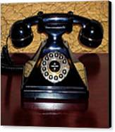 Classic Rotary Dial Telephone Canvas Print