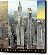 Classic Skyscrapers Of America 20130428 Canvas Print by Wingsdomain Art and Photography