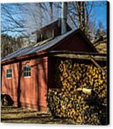 Classic Vermont Maple Sugar Shack Canvas Print