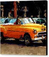 Classic Yellow Havana Canvas Print by Fran Hogan