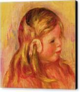 Claude Renoir Canvas Print by Pierre Auguste Renoir