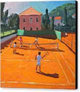 Clay Court Tennis Canvas Print