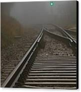 Clear Track Canvas Print by Odd Jeppesen
