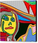 Cleo Waiting Canvas Print by David Skrypnyk