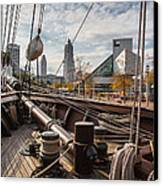 Cleveland From The Deck Of The Peacemaker Canvas Print by Dale Kincaid