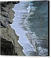 Cliffs And Surf Big Sur Coast Canvas Print by Elery Oxford
