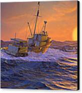 Climbing The Sea Canvas Print