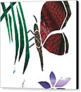 Clinging Butterfly Canvas Print by Earl ContehMorgan
