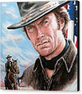 Clint Eastwood American Legend Canvas Print by Andrew Read
