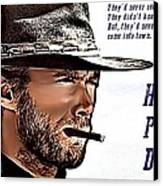 Clint Eastwood High Plains Drifter Canvas Print by James Griffin