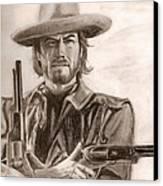 Clint Eastwood Canvas Print