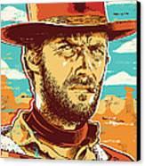 Clint Eastwood Pop Art Canvas Print by Jim Zahniser