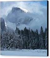 Cloaked In A Snow Storm Canvas Print