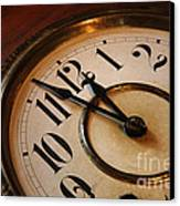Clock Face Canvas Print by Johan Swanepoel