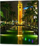 Clock Tower Of Old Kowloon Station Canvas Print by Hisao Mogi