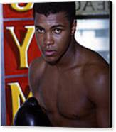 Close Up Of Muhammad Ali Canvas Print by Retro Images Archive