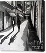 Closed Shops Canvas Print by Kostas Koutsoukanidis