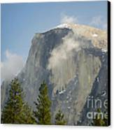 Clouds Around Half Dome  Canvas Print by Jim and Emily Bush